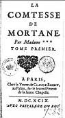 La comtesse de Mortane, tome 1