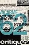 Vacarme N°62, Hiver 2013 : Mille milliards de critiques