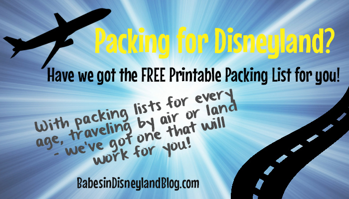 Downloadable Packing Lists and Tips for Disneyland Resort Trips by Plane and Car