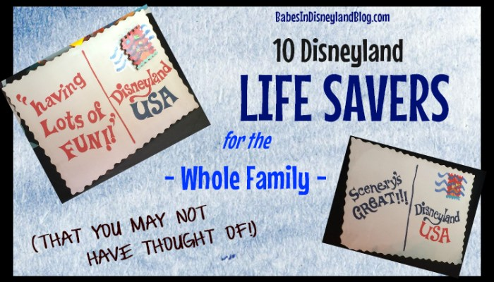 10 Disneyland Life Savers for the Whole Family (That you may not have thought of!)