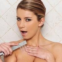 Katerina Hartlova takes a shower