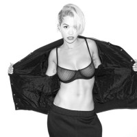 Rita Ora in See-Through Bra by Terry Richardson