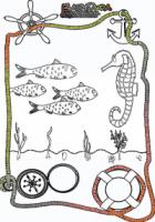 Ausmalbild-Meer-Fisch