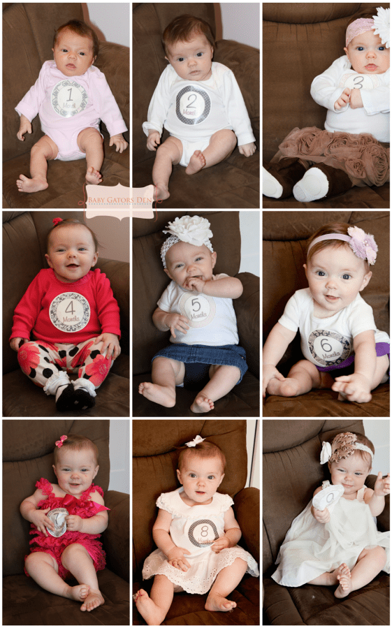 sid9months 561x899 Pregnancy & Baby Collages