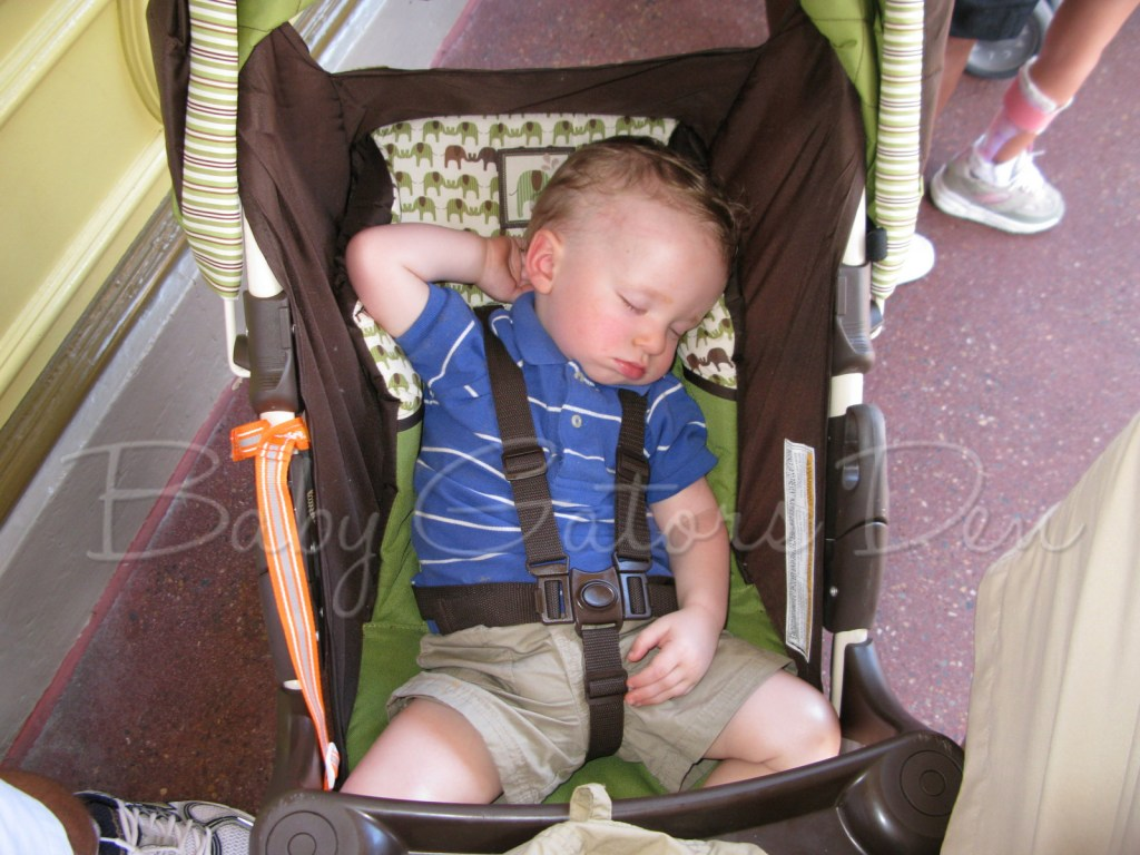tired at disney 1024x768 Tips for doing Disney with a Toddler