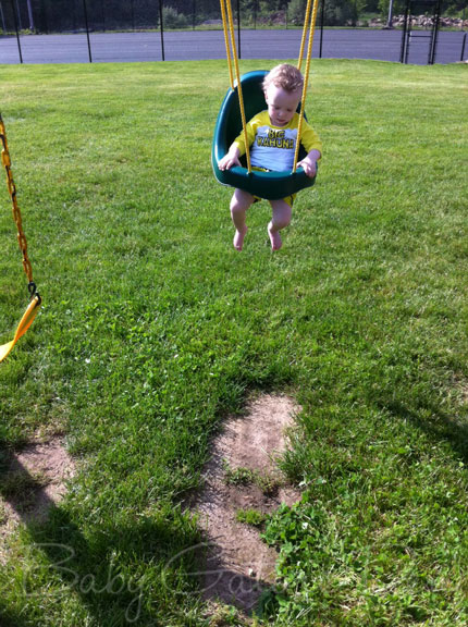 swinging boy Wordless Wednesday: Summer Fun