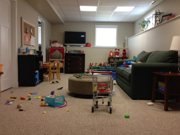 photo1 660x495 Our La Z Boy Playroom Re do is Complete!