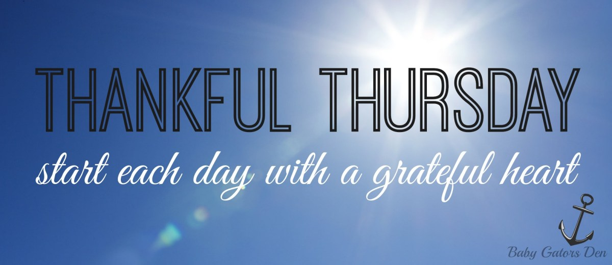 Thankful Thursday is Back!