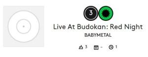 babymetalビルボード3位