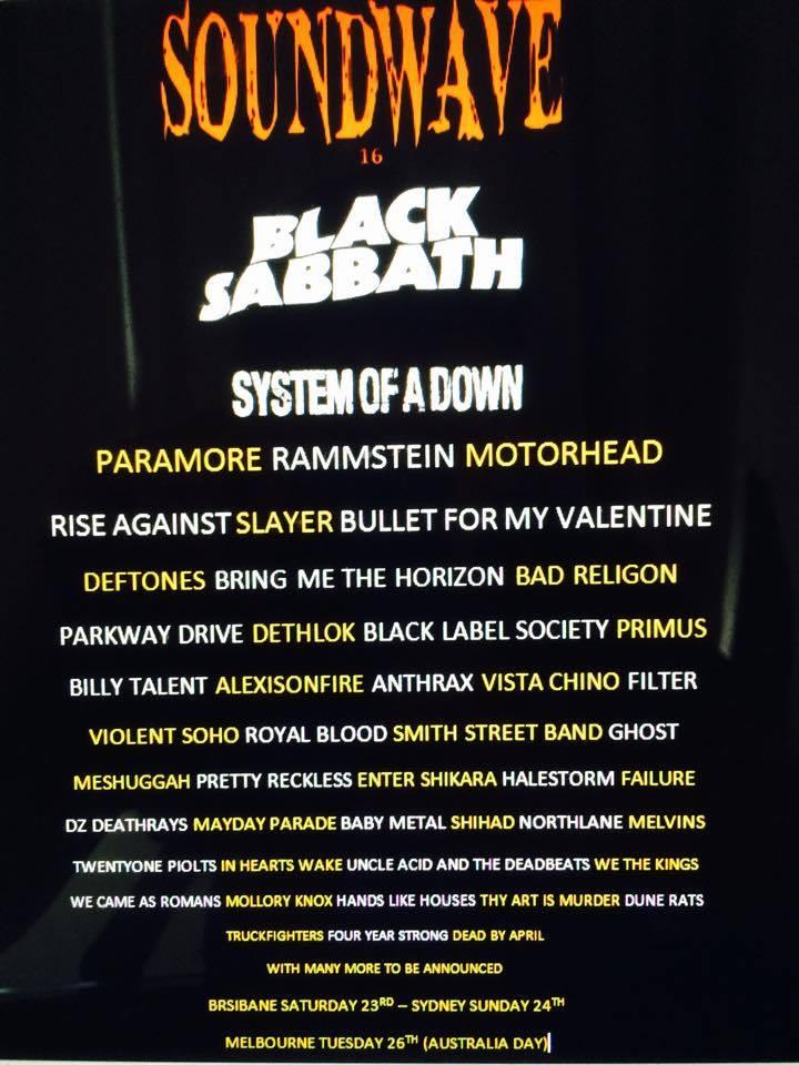 "BABYMETAL オーストラリアのロックフェス""SOUNDWAVE 2016""出演か?海外の反応"