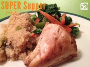 chicken, kale, quinoa, dinner, carrots, supper, super food