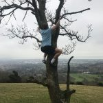 Here's a Picture of one of our more adventurous Team Members Getting some Exercise on the downs outside Eastbourne. Can you guess who it is?