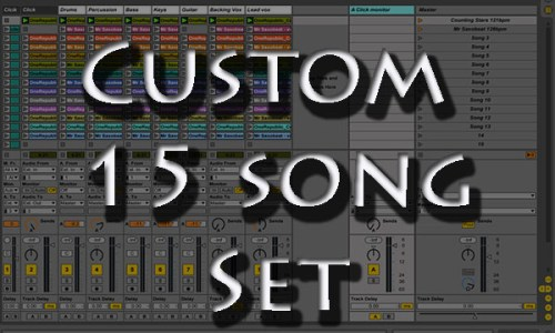 backing tracks Custom 15 song