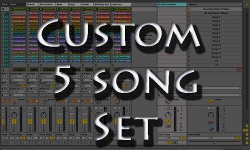 backing tracks Custom 5 song