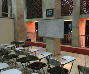 モスクの中で、生徒が勉強し終わった教室