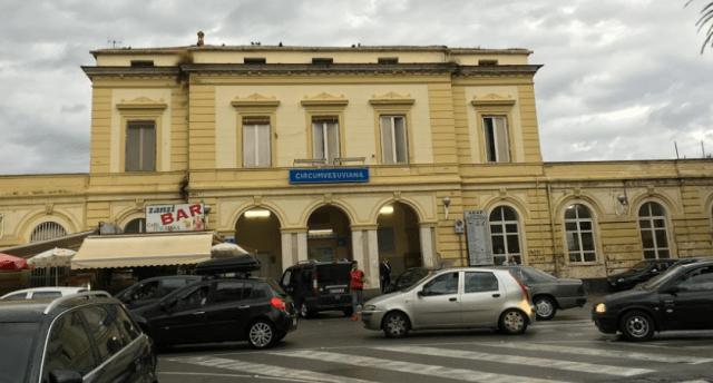 チルクムヴェスヴィアーナ鉄道(Circumvesuviana)のポンペイ駅