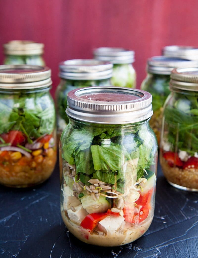 salads in a jar