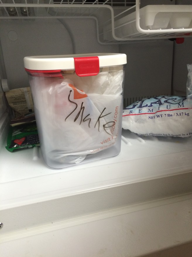 preserving snake in freezer