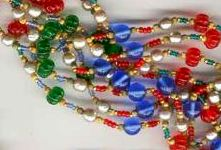 beaded necklace with all colors