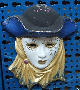 Venetian mask.  Image courtesy Wikimedia Commons