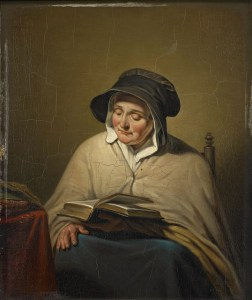 Old Woman Reading by Cornelis Kruseman, Amsterdam Museum
