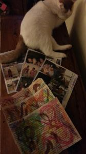 This is a Mike Letter, complete with photo montage and watercolor.  Rufus the cat is completely unrelated.