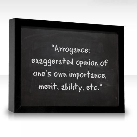 The Word Arrogance