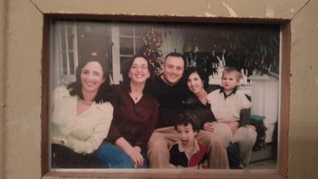 A Thanksgiving memory: Little Gay, Me, Joe, Beth, Jake...and that's Grant in the front. Mr. Enthusiasm!