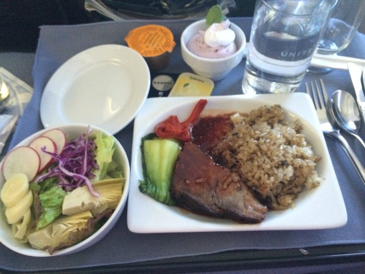 Meal on Guam to Tokyo