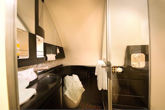 Etihad A380 Residence - The Bathroom