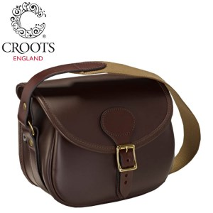 Croots Byland Leather Cartridge Bag Oxblood