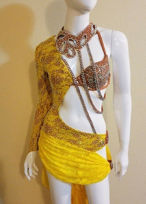 My Dream custom designed salsa dress by Baila Designs