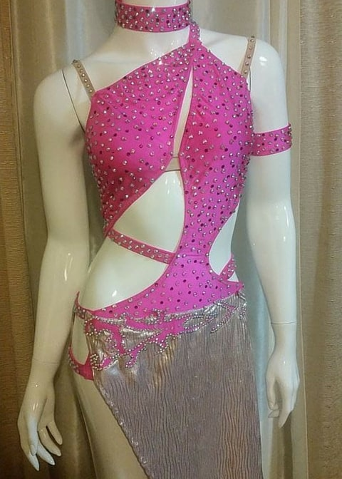 Pink Dream custom designed salsa dress by Baila Designs