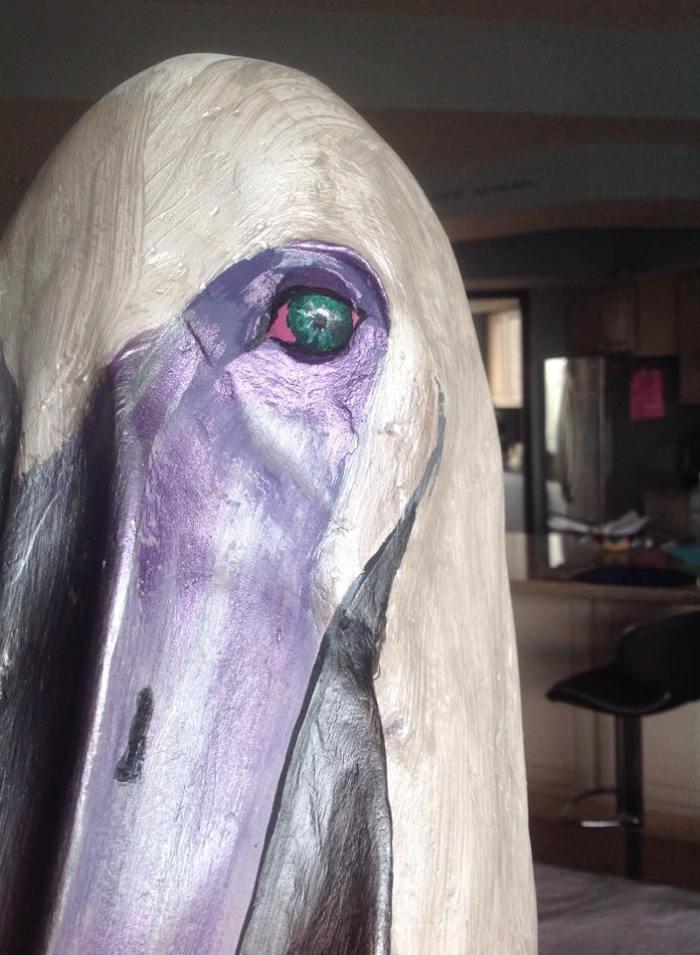 Pelican in Papier-Mâché