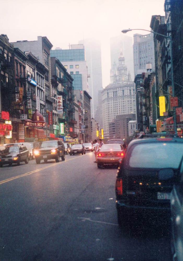 lower Manhattan (WTC Towers in bckgrnd), c. 1990's