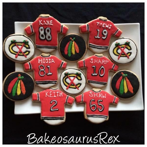 Blackhawks Cookies