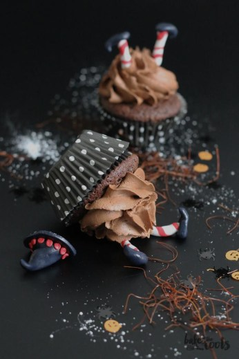 """Halloween Chili Chocolate Cupcakes """"Wicked Witches of the East"""" 