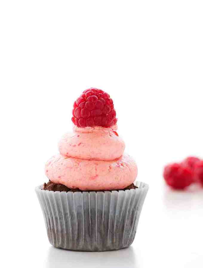 Healthy Chocolate Raspberry Cupcakes