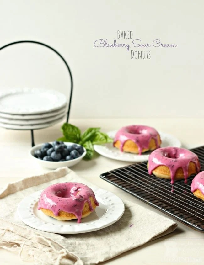 Baked Blueberry Sour Cream Donuts