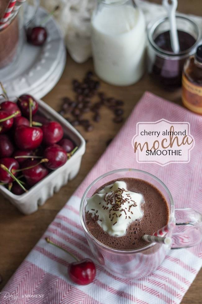 Cherry Almond Mocha Smoothie | Baking a Moment