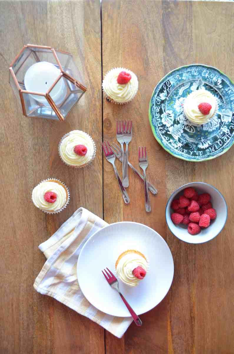 Lemon Curd and Raspberry Cupcakes