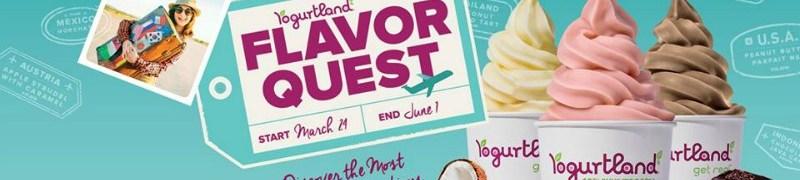 Yogurtland Flavor Quest Graphic