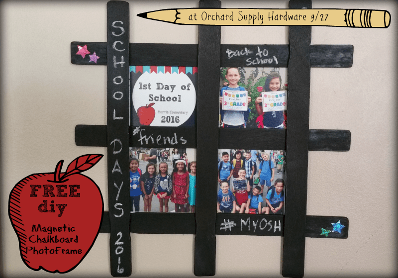FREE Kids Craft Event: Back To School Magnetic Photo Frames + Giveaway | @OrchardSupply #ad #oshmoment