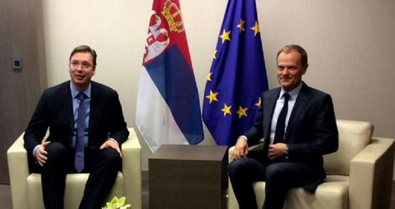 Beograd: Tusk razgovrao sa Vučićm