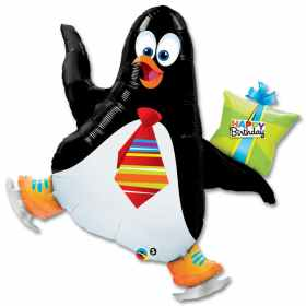 Birthday Penguin Mylar Balloon 41 Inch from Balloon Shop NYC
