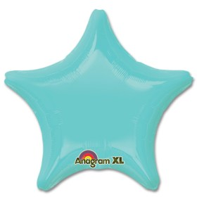 Robins Egg Blue Star Solid Color Foil Party Balloon 19 inch from Balloon Shop NYC
