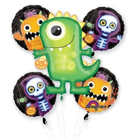Halloween Boo Crew Mylar Balloon Bouquet from Balloons Shop NYC