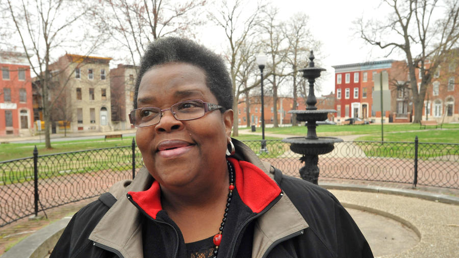Arlene Fisher, Lafayette Square. Photograph by Amy Davis, Baltimore Sun.
