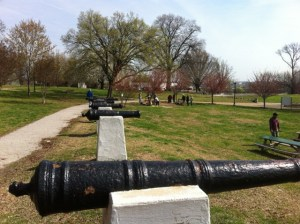 War of 1812 Commemorative Cannons in Patterson Park