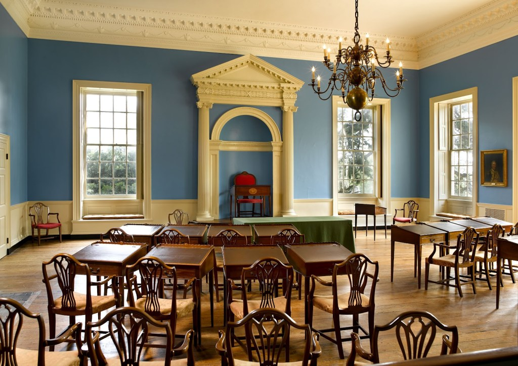 Old Senate Chamber after restoration. Maryland Historical Trust.